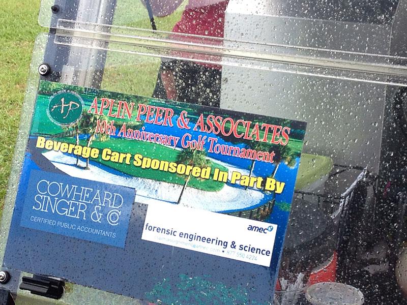 Aplin Peer & Assoc. 2013 Golf Tournament